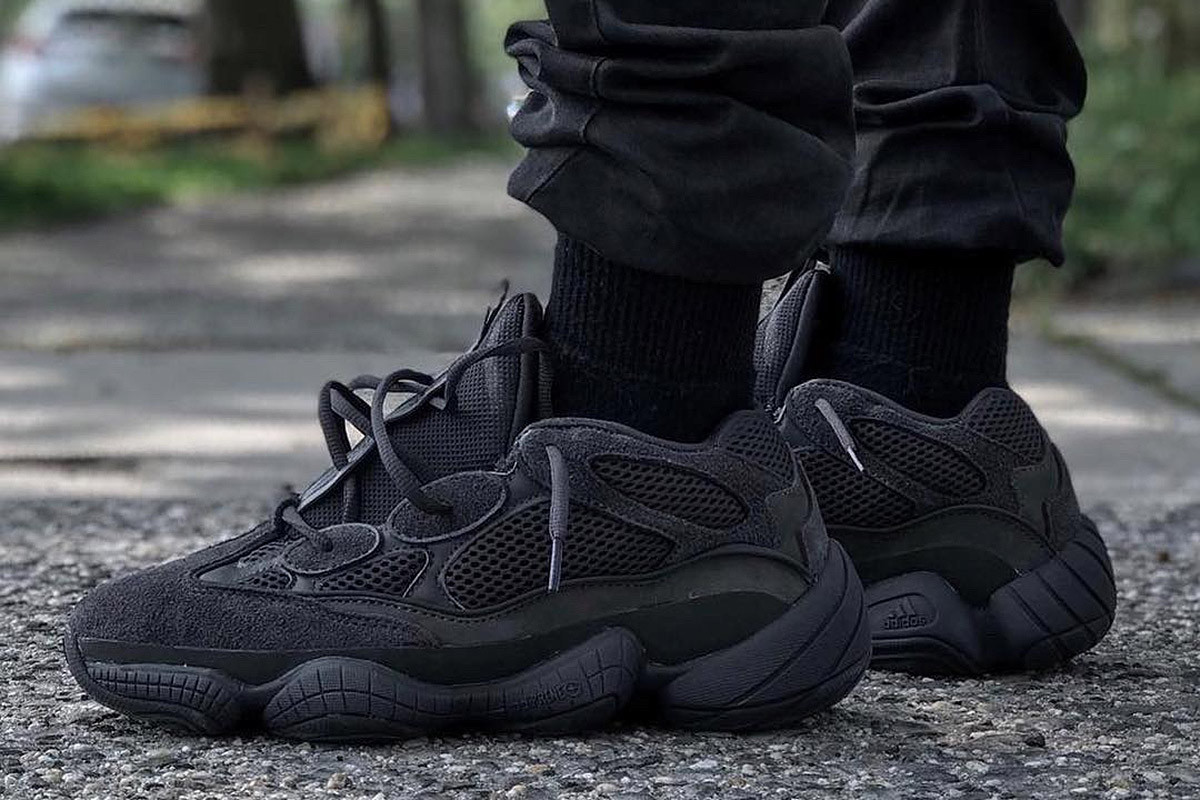 a0b73efe3 Yeezy 500 Utility Black Sat on Shelves